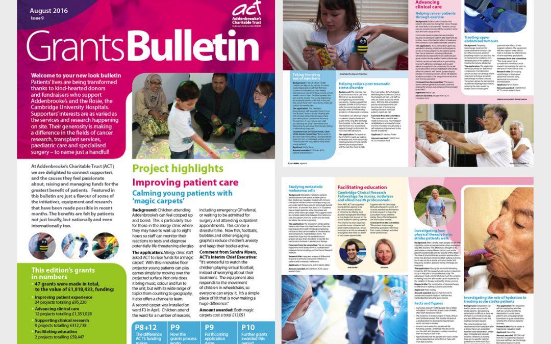 Feedback on the ACT Grants Bulletin