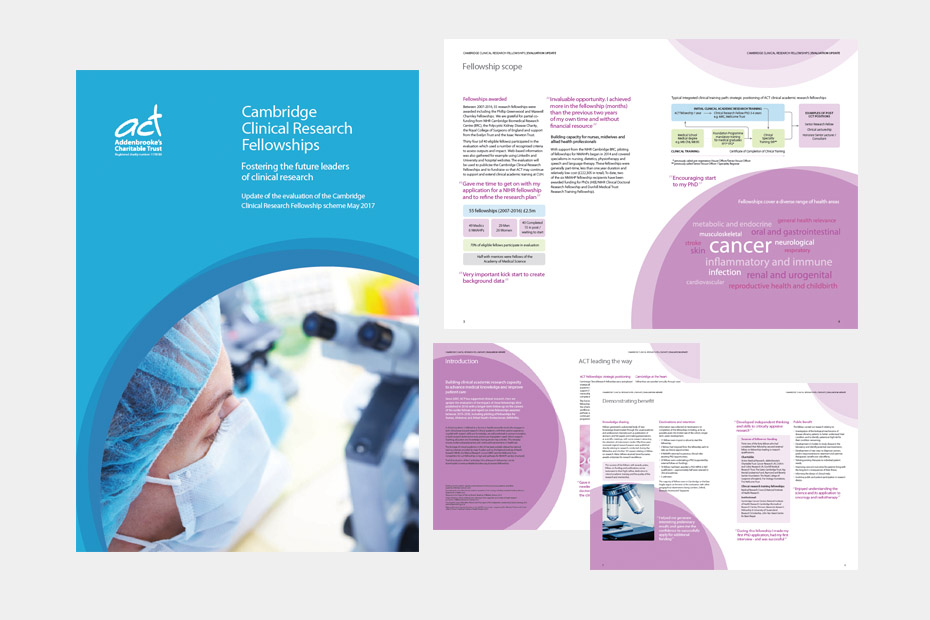 Addenbrookes Charitable Trust Fellowship brochure design