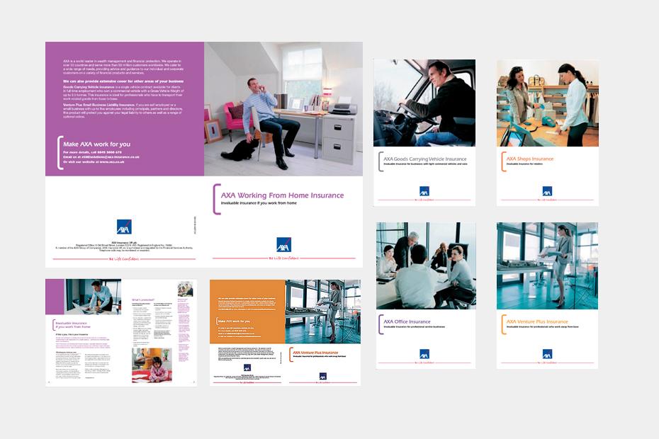 AXA Insurance Leaflet Design