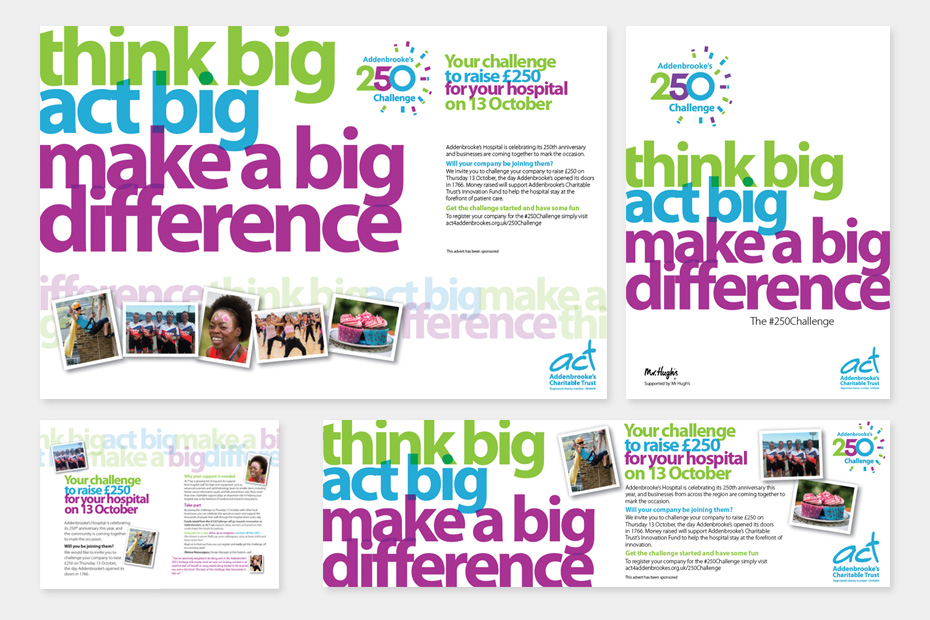 Addenbrookes fundraising campaign design