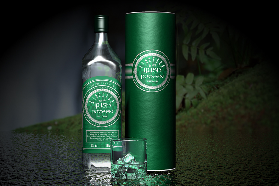 Knokeen Hills Poteen Label Design