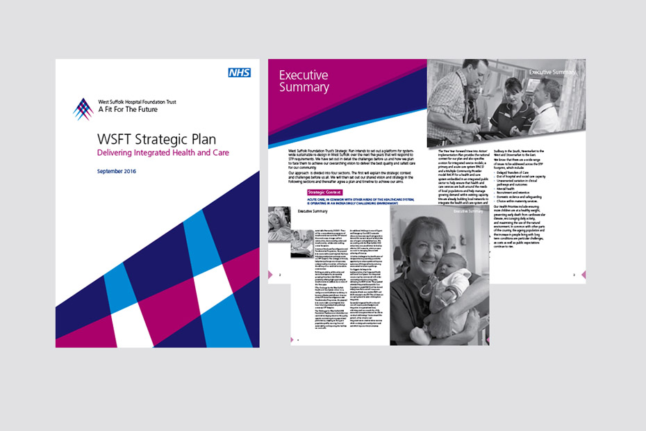 NHS West Suffolk Strategic Plan Design