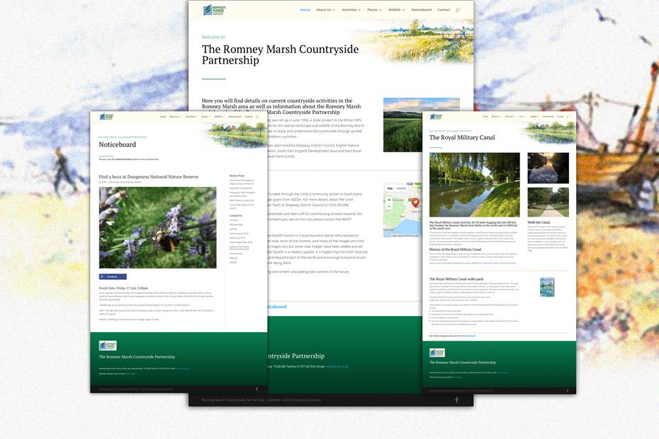 Romney Marsh Countryside Partnership Website Design