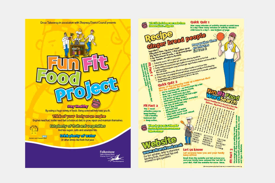Shepway Fun Fit Food Project Leaflet