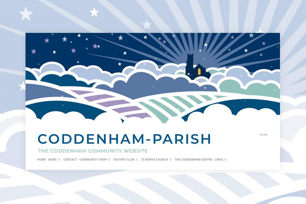 Coddenham Festive Websbite Header Illustration