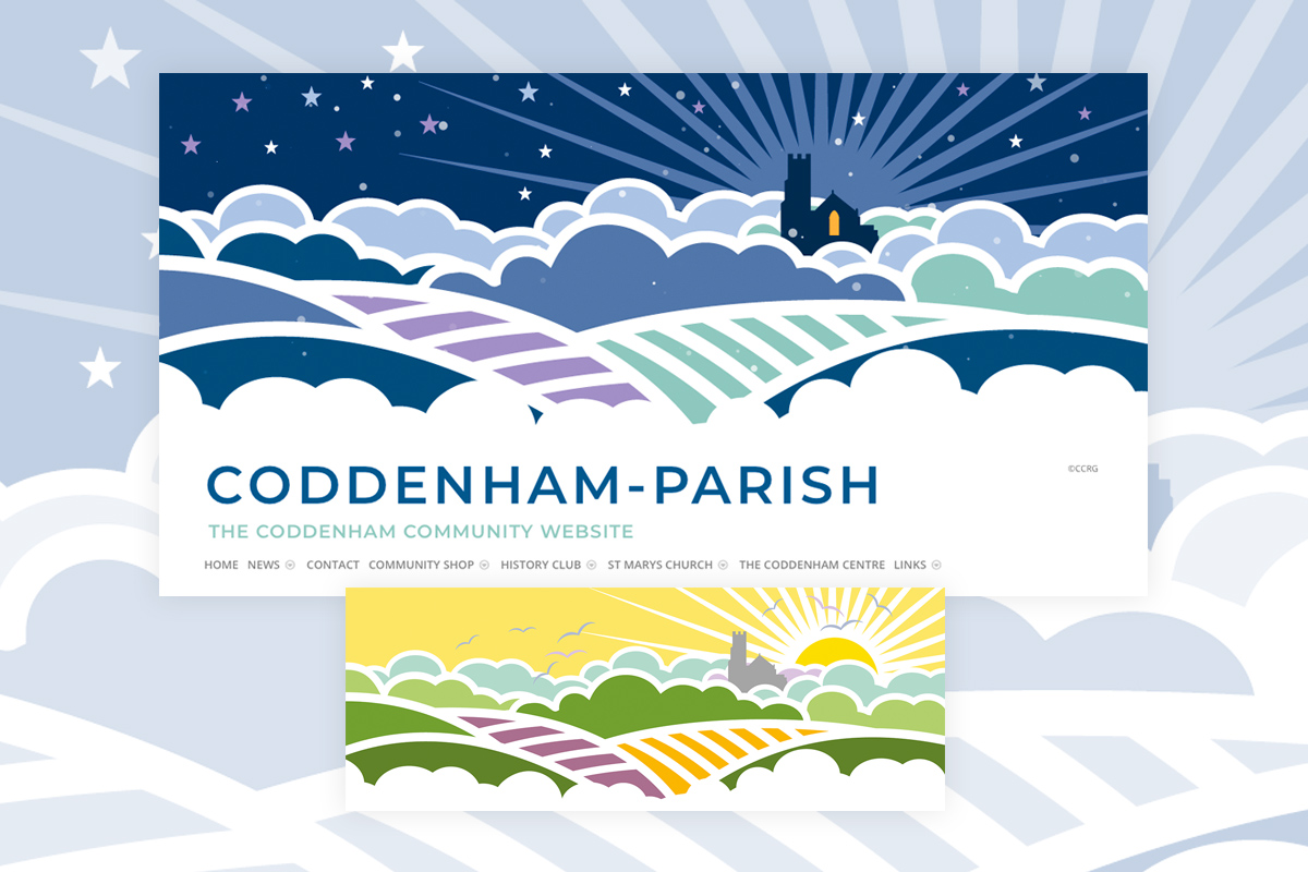 Coddenham Community Website Festive Header Illustration